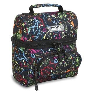 J World Corey Doodle Double-decker Lunch Bag