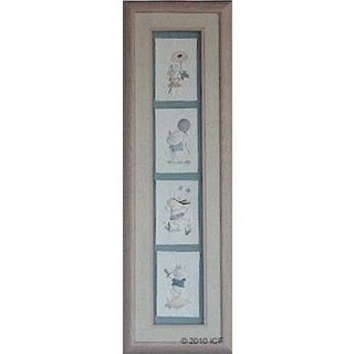 Cast Paper 'Furry Friends Collection' 10x32 Indoor/ Outdoor Framed Art