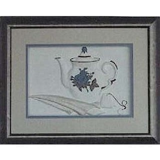 Cast Paper 'Teapot' 13x16 Indoor/ Outdoor Framed Art