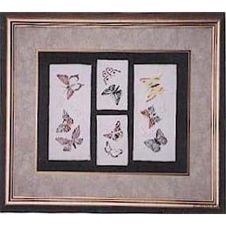 Cast Paper 'Butterfly Suite' 24x28 Indoor/ Outdoor Framed Art