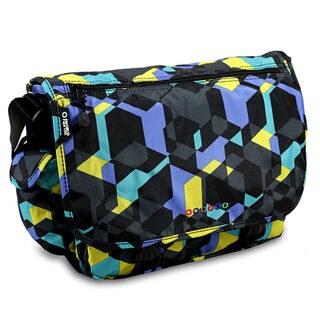 J World Multicolored Polyester Graphic Messenger Bag