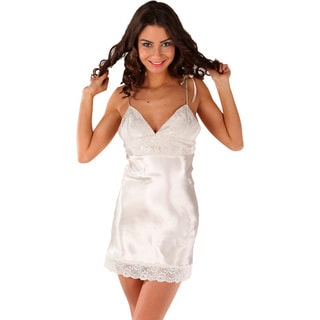 Miorre Women's Pearl White Cotton/Polyester Chemise