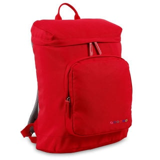 J World Eve Red Polyester Lined Laptop Campus Backpack