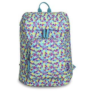 J World Eve Multicolor Polyester Floral Laptop Backpack