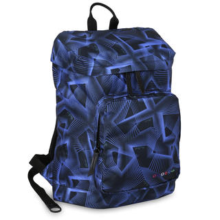 J World Eve Disco Blue Polyester Laptop Backpack