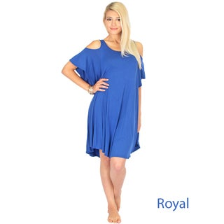 Women's Sun-Kissed-Shoulder Tunic Dress