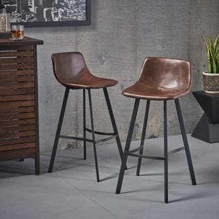 Dax 30-inch Faux Leather Snake Skin Pattern Barstool (Set of 2) by Christopher Knight Home|https://ak1.ostkcdn.com/images/products/12062455/P18931679.jpg?impolicy=medium