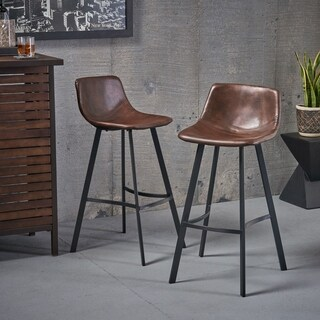 Dax 30inch Faux Leather Snake Skin Pattern Barstool Set Of 2 By Leather Bar Stools With Back S25