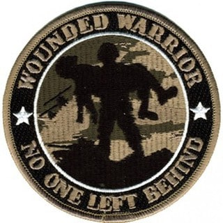 Wounded Warrior 'No One Left Behind' Polyester Round Patch