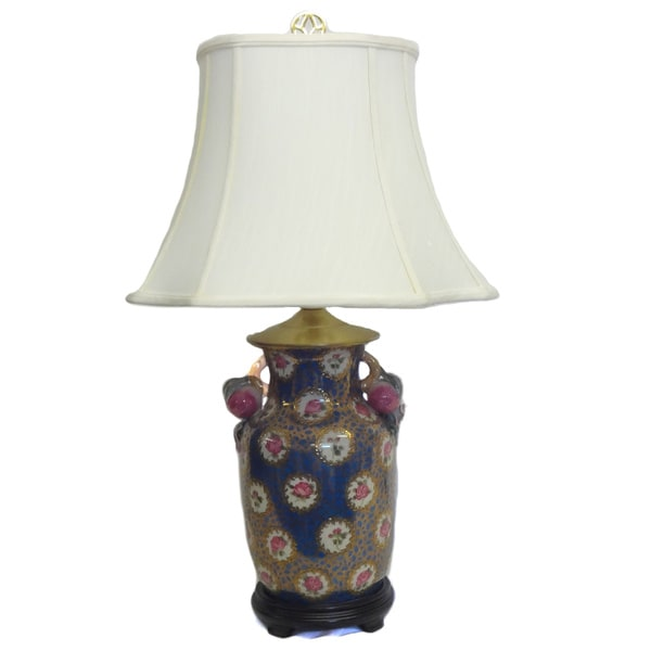 Royal Roses Porcelain Lamp - White