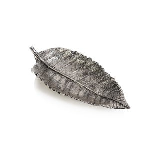 Elm Leaf Antique Pewter Tray (Set of 6)