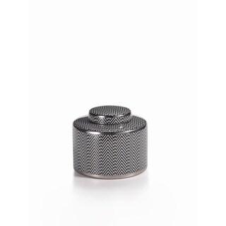 7-inch Chevron Lidded Small Jar
