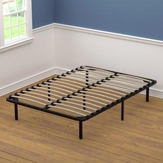 Perfect Handy Living Wood Full Size Slat Bed Frame