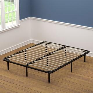 handy living queen size wood slat bed frame