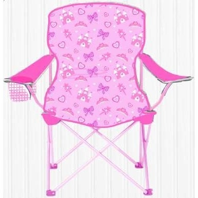 Sizzlin Cool Princess Pink Metal Children Foldable Camping Chair   Free  Shipping On Orders Over $45   Overstock.com   18932200