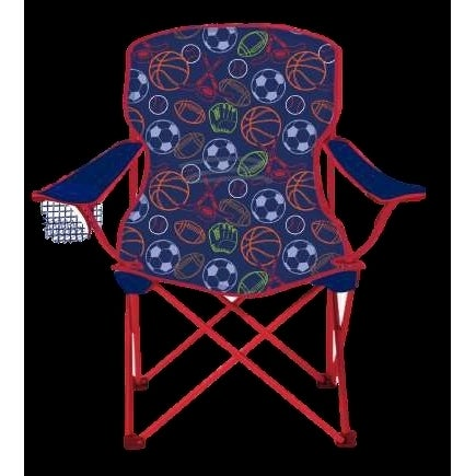 Sensational Sizzlin Cool Sports Childrens Blue Red Foldable Camping Chair Creativecarmelina Interior Chair Design Creativecarmelinacom