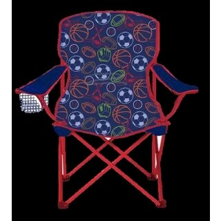 Sizzlin Cool Sports Children's Blue/Red Foldable Camping Chair