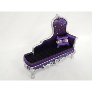 Elegant Rose Lounge Chair Ring Holder- Purple