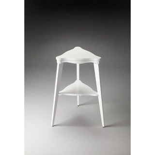 Handmade Butler Kent Glossy White Wood/MDF Tiered End Table (China)