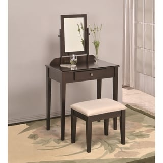 Three-piece Vanity Table Mirror and Stool