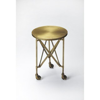 Handmade Butler Costigan Antique Gold End Table (India)