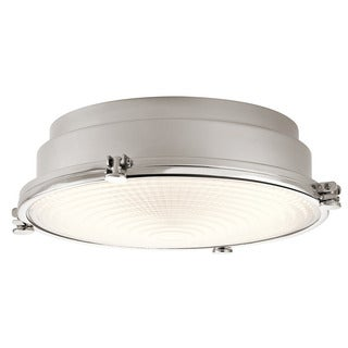 Kichler Lighting Hatteras Bay Collection 1-light Polished Nickel LED Flush Mount