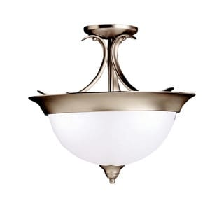 Kichler Lighting Dover Collection 3-light Brushed Nickel Semi-Flush Mount