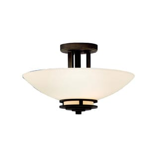 Kichler Lighting Hendrik Collection 2-light Olde Bronze Semi-Flush Mount