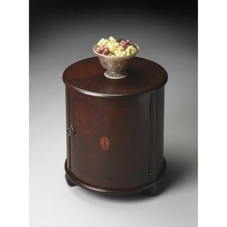 Butler Plantation Cherry Lawrie Brown Wood/MDF Drum Table