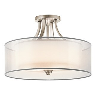 Kichler Lighting Lacey Collection 4-light Antique Pewter Semi-Flush Mount