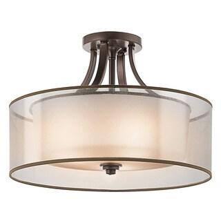 Kichler Lighting Lacey Collection 4-light Mission Bronze Semi-Flush Mount