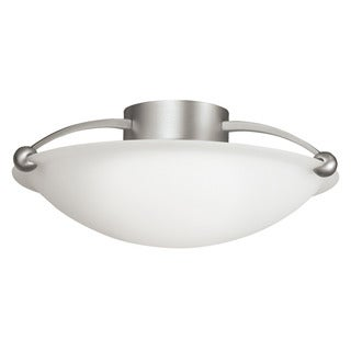 Kichler Lighting Swiss Passport Collection 3-light Brushed Nickel Semi-Flush Mount