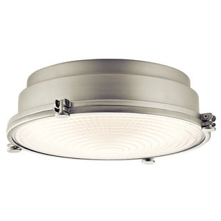 Kichler Lighting Hatteras Bay Collection 1-light Brushed Nickel LED Flush Mount