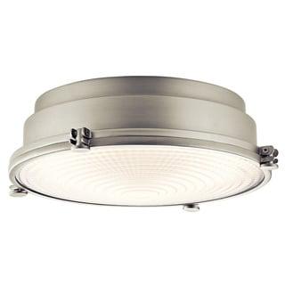 Kichler Lighting Hatteras Bay Collection 1-light Brushed Nickel LED Flush Mount