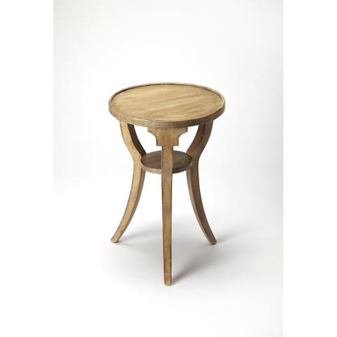 Handmade Butler Dalton Driftwood Resin and Wood Round End Table (China)