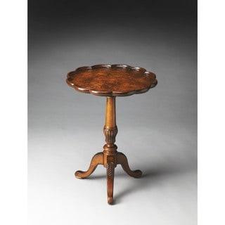 Butler Dansby Olive Ash Burl Pedestal Table