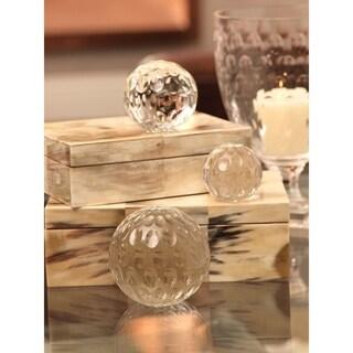 Hand Cut Bubble Glass Decorative Ball - Small