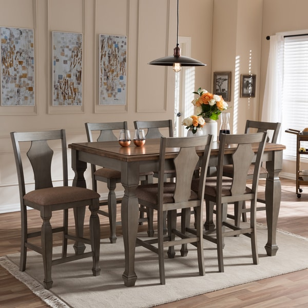 Cottage Dining Room Sets: Shop Baxton Studio Amenophis Country Cottage Weathered