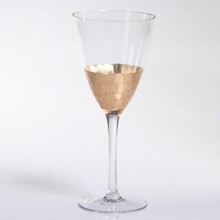Wine Glass with Gold Leaf Rim (Set of 8)