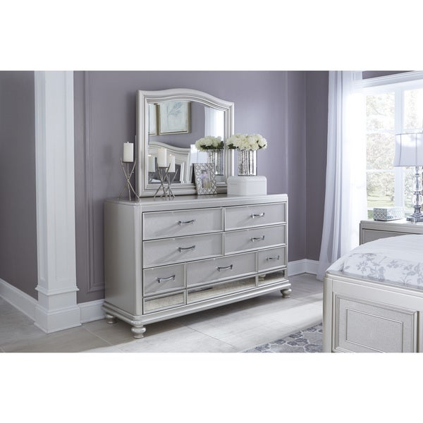 Exceptional Signature Design By Ashley Coralayne Silver Bedroom Dresser With Mirror
