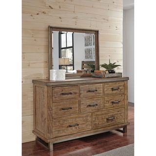 Signature Design by Ashley Dondie Warm Brown Dresser with Mirror