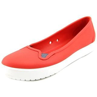 Crocs Women's 'CitiLane Flat' Red Synthetic Casual Shoes