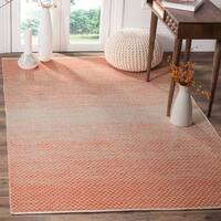 Safavieh Hand-Woven Montauk Orange/ Ivory Cotton Rug - 6' x 9'