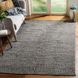 Safavieh Hand-Woven Montauk Blue/ Multi Cotton Rug (8' x 10')