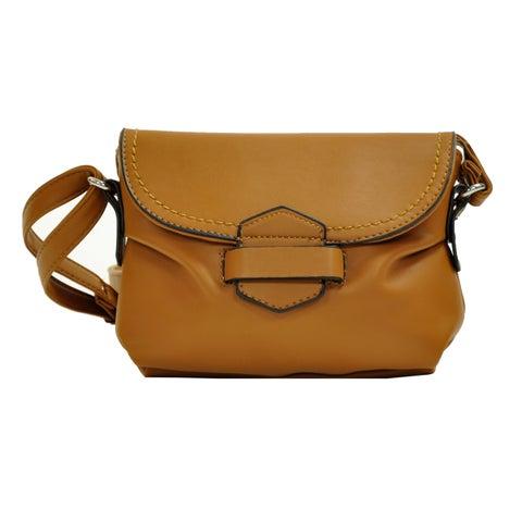 MoDA Mini Faux Leather Crossbody Handbag