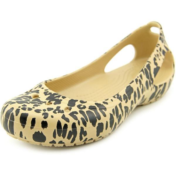 b68ccf31a3109c Crocs Women  x27 s Kadee Casual Animal Print Gold Synthetic Flat Shoes