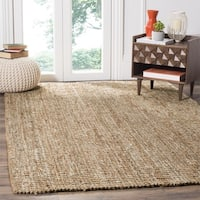 Safavieh Casual Natural Fiber Hand-Woven Natural / Ivory Chunky Thick Jute Rug - 6' x 6' Square