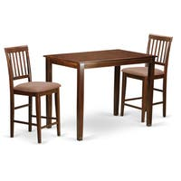 Natural Solid Wood 3-piece Counter Height Dining Set