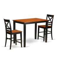 Solid Rubberwood 3-piece Counter-height Pub Dining Set