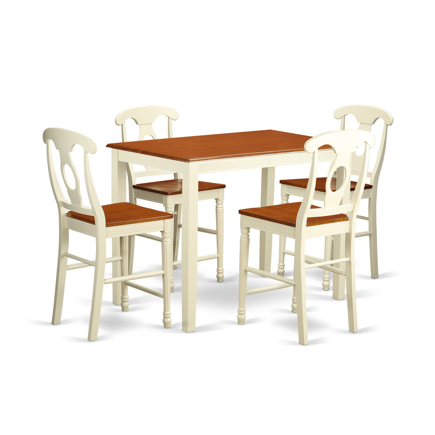 Solid Wood 3 Piece Counter Height Dining Set